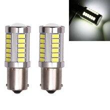 10 шт. светодиодный Автомобильная белая лампа BA15S P21W 1156 резерсветильник заднего хода 33 SMD 5630 Лампа Бесплатная доставка