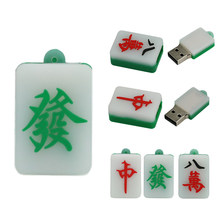 Rechthoek Pendrive Mini 128Gb Usb Flash Drive 4 8 32 64 128 256 16 Gb Pen Drive Mahjong 8gb 256Gb U Disk Stick Creative Fun Gift