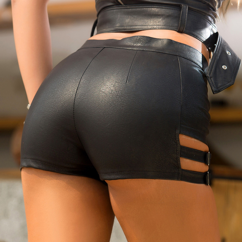 GAOKE Short Women Summer Sexy Black Shorts For Women 2020 Lady Leather Shorts Mini Shorts Slim Hip NEW Casual 2020