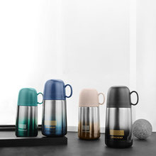 Thermos cup 240 ml With Cup Lid Double Wall Stainless Steel High Quality  Vacuum Flasks Coffee Travel Mug vacuum flask bowling