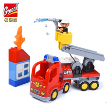 Legoingly 30pcs Big Size Fire Station Building Blocks Figure Compatible With Bricks Duplo Educational Toy For Children Kids Gift цена в Москве и Питере