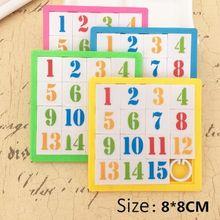 1 pçs 1-16 números de jogo de quebra-cabeça brinquedos slide quebra-cabeças cedo brinquedo educativo para crianças desenvolvimento animal dos desenhos animados quebra-cabeças
