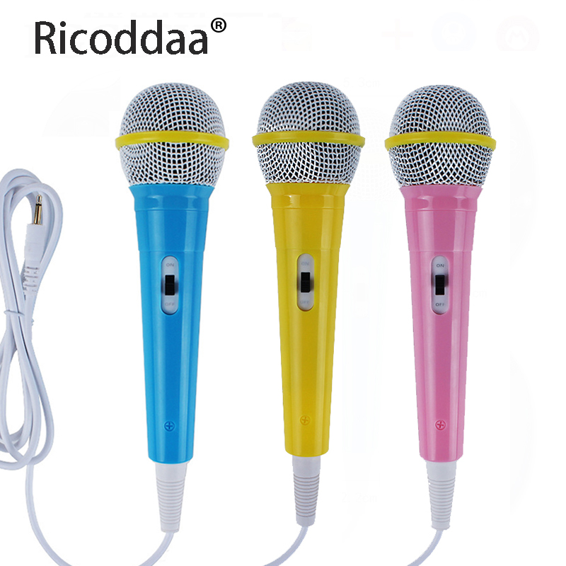 Portable 3.5mm Microphone Stereo Studio Mic KTV Karaoke Mini Microphone For Cell Phone PC Desktop 21.5cm*5.3cm Small Size Mic