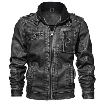 Mens Leather Jackets High Quality Classic Motorcycle Jacket Male Plus faux leather jacket men spring Drop shipping