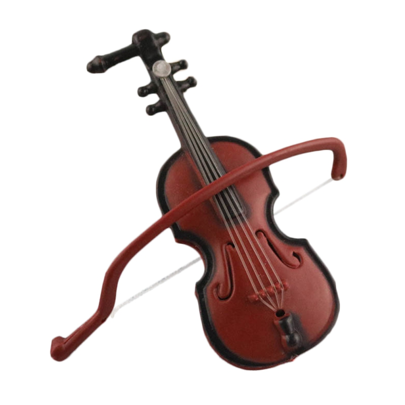 Plastic Mini Violin Doll Accessories Crafts Toys DIY 1/12 Dolls Home Violin Music Instrument Miniatures Children Gift