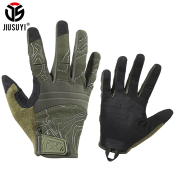 Breathable Tactical Army Gloves Dexterity Military Paintball Shoot Airsoft Combat Touch Screen Protective Full Finger Glove Men 1