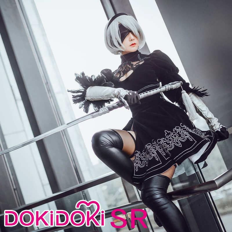 DokiDoki-SR игра для косплея NieR: Automata 2B Косплей йоркха № 2 Тип B Женский костюм на Хэллоуин NieR Automata