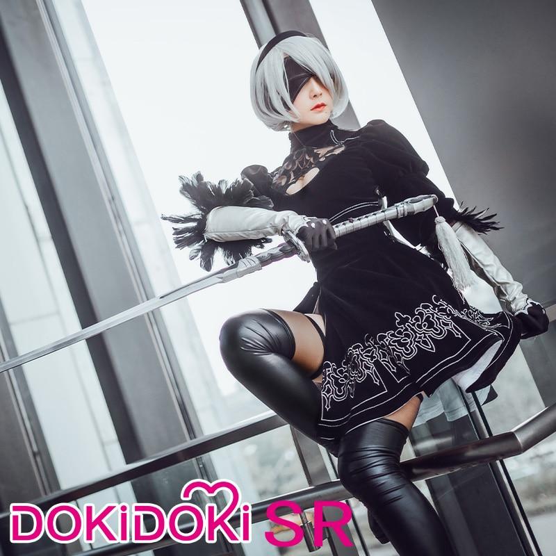 DokiDoki-SR Game Cosplay NieR:Automata 2B Cosplay YoRHa No. 2 Type B Costume Women Halloween Costume NieR Automata