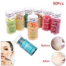 90Pcs Vitamin E Essence Capsules Anti-Aging Serum Acne Removing Whitening Cream