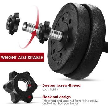 A Pair of Adjustable 30kg Non-Slip Dumbbell Weight Set -Fast Shipping