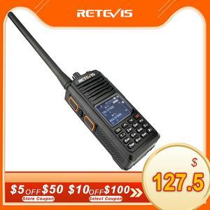 Image 1 - RETEVIS RT52 DMR Radio Digital Walkie Talkie Dual PTT doble banda DMR VHF UHF GPS Radio de dos vías encryted Ham amatner Radio + Cable
