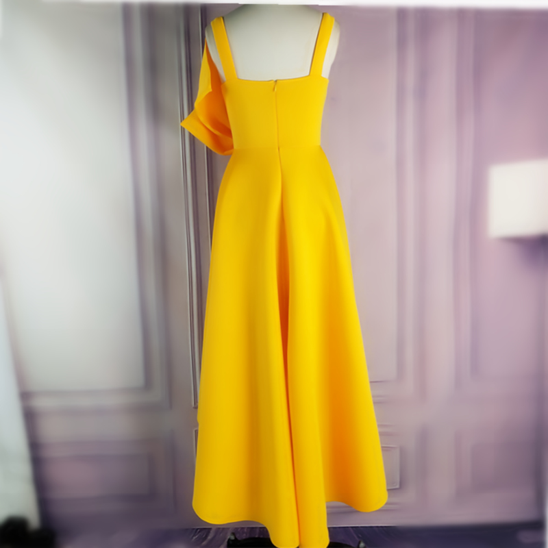 Women_s_Irregular_Yellow_Occassion_Dresses_Flare_Pleated_Party_with_Bow_tie_Celebrate_Ladies_Dated_N (3)