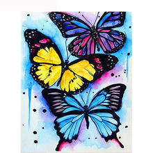 full diamond mosaic three butterflies for needlework diamond painting animals beautiful butterfly diamond picture paintings kits dazzle butterfly prints diamond paintings