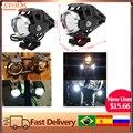 2 шт. мотоцикл 125 Вт светодиодный вспомогательный фонарь для фар лазерная пушка водонепроницаемый высокой мощности точечный свет аксессуар...