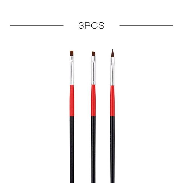 ROSALIND Nail Brushes Set for Manicure DIY Tool Set 3D Gel Acrylic Brushes Liner Pen Nail Art Brush For Nails Design 5