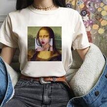 2021 летние художественный принт Женская футболка белые женские