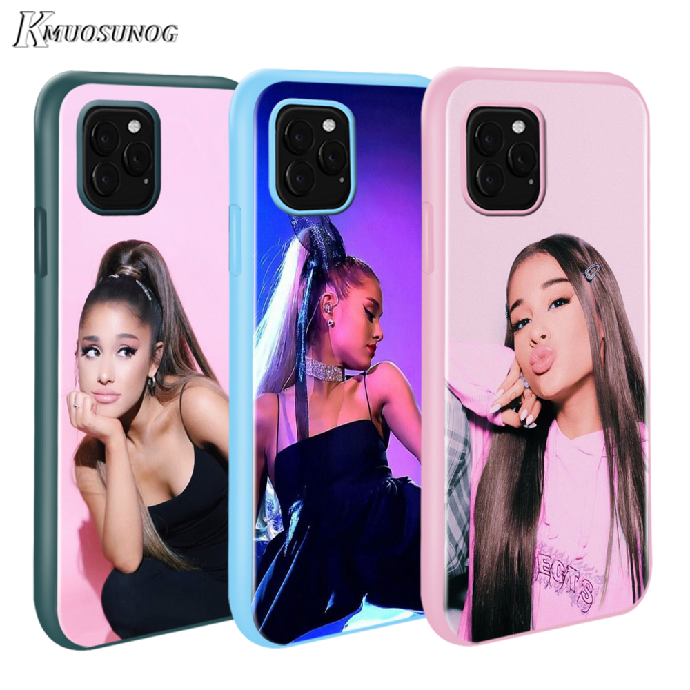 for <font><b>iPhone</b></font> 11 11Pro XS XR X Max Candy Color Phone Cover <font><b>Ariana</b></font> <font><b>Grande</b></font> for <font><b>iPhone</b></font> 8 7 <font><b>6s</b></font> Plus 5s Mobile Phone <font><b>Case</b></font> image