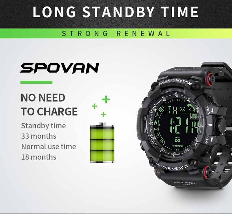 Montre de Sport en gros montre intelligente étanche passomètre Smartwatch Bluetooth montre pour Smartphone