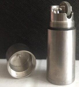 XWYQ 57gTA2 чистый титан ручной работы 6,5*2,2 см большая емкость зажигалка с кольцом