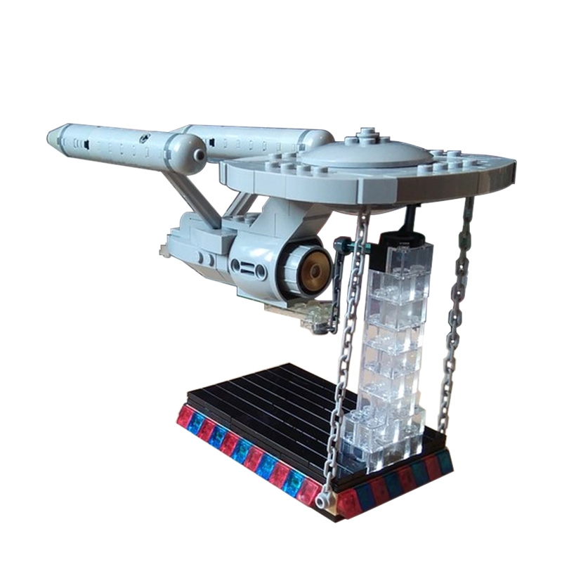 3D Star Treks-Series Starship Enterprise NCC-1701-D Bird of Prey model kits DIY Laser Cut building blocks  Assemble Toys gift