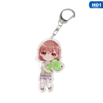 Anime A Certain Magical Index Keychain Acrylic Figure Misaka Mikoto Accelerator Keyring Charms Cute Gifts image