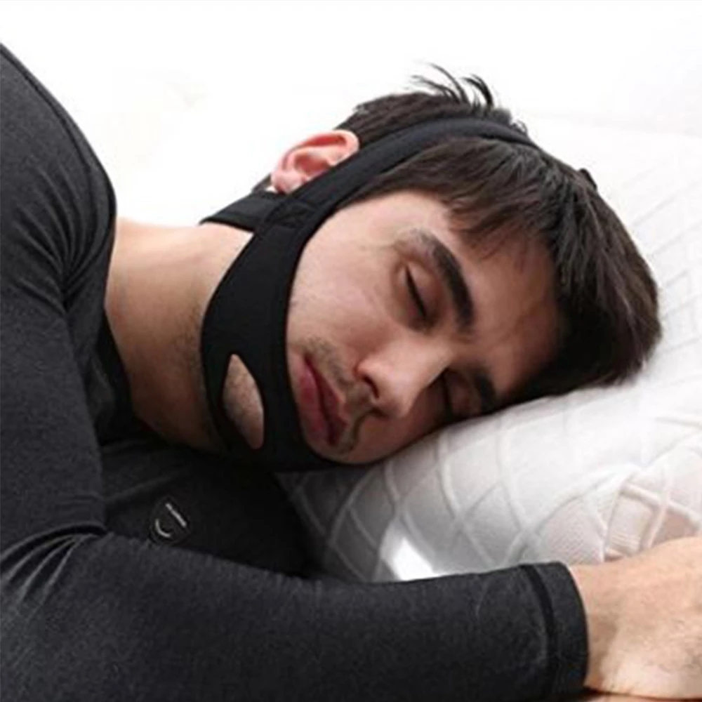 Genkent Anti Snoring Chin Strap Anti Snore Stop Snoring Jaw Belt Sleep Support for Woman Man Care Sleeping Tools Black|snoring chin|anti snoring chinsnoring chin strap - AliExpress