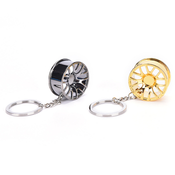 Automotive Wheel hub Keychain auto Tire rims key chain auto parts keychain autoparts key ring car key chain wheel key chain image