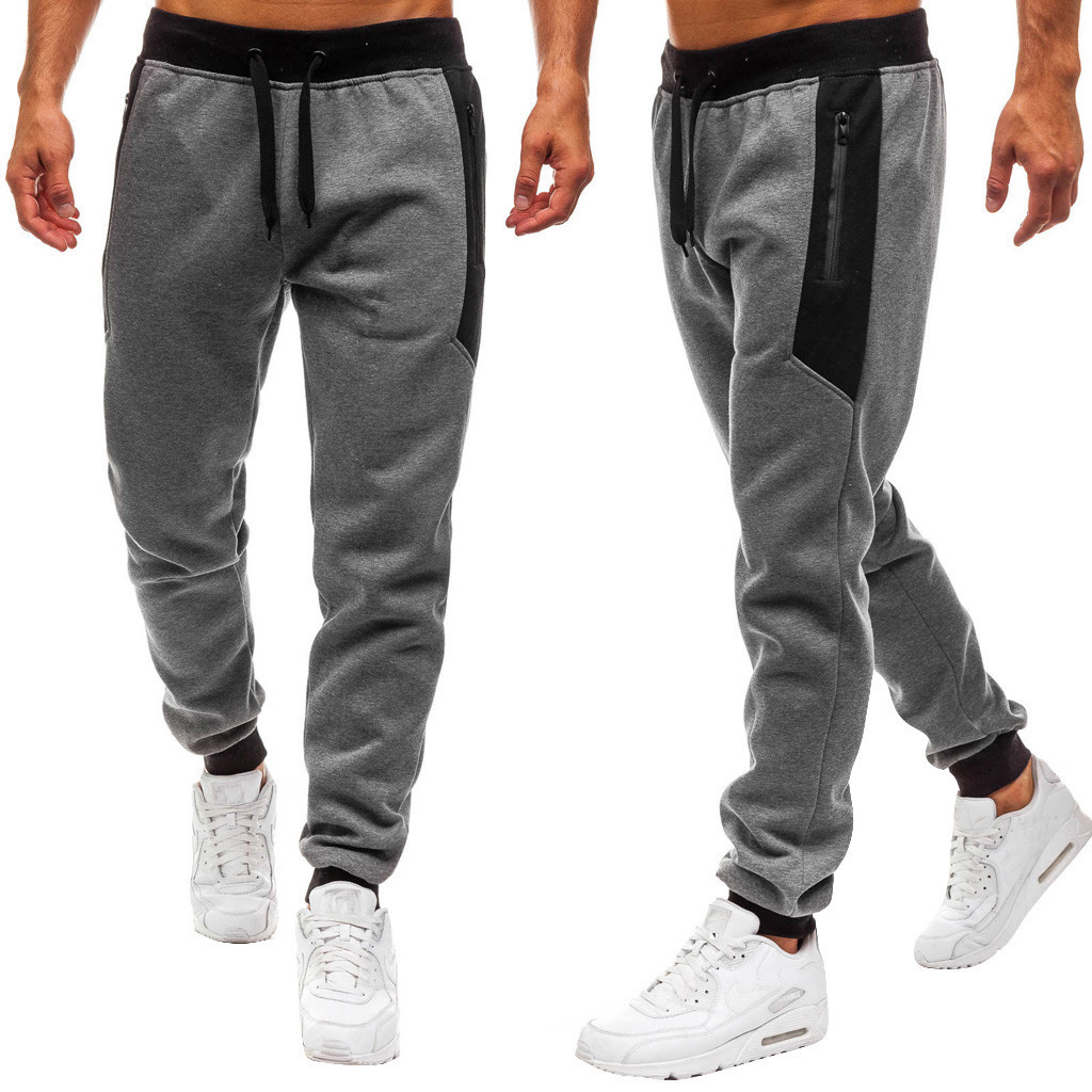 2019 Men Joggers Splicing Print Male Trousers Casual Pants Sweatpants Jogger Elastic Sports Fitness Workout High Quality Pants