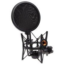 Профессиональный микрофон с амортизирующим креплением защитным