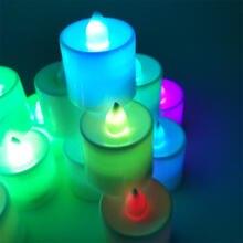 Светодиодный ночник с цветными свечами романтичный праздничный