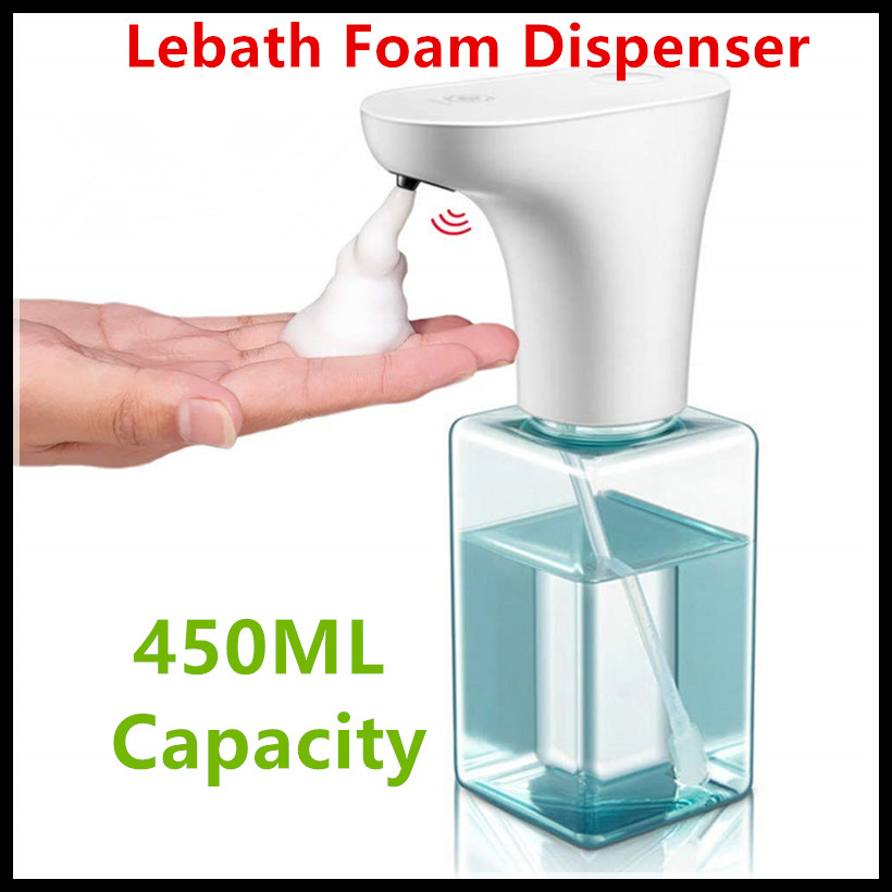 Xiaomi Eco-System Brand Lebath Auto Induction Foam Soap Dispenser Hand Washer Builting Battery Charge 450ML Capacity PK MiniJ