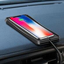 Carregador de carro sem fio 10w 7.5w 5w qi, plataforma de carregamento sem fio para samsung s9, telefone rápido carregador para iphone x 8plus xr,