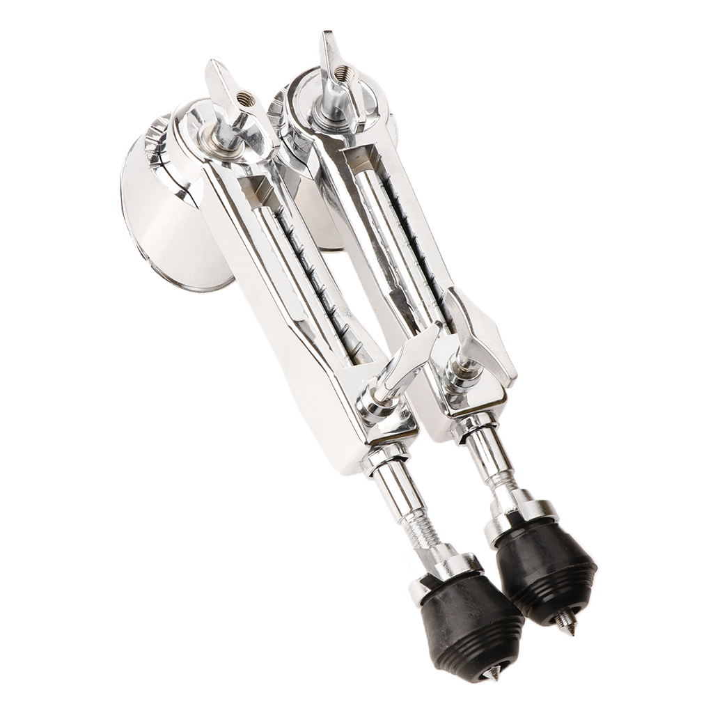 Bass Drum Legs, Bass Drum Spurs 1 Pair Iron Plating Metal Anti-Rust Stable Bass Drum Leg Drum Stands For Precussion Instrument