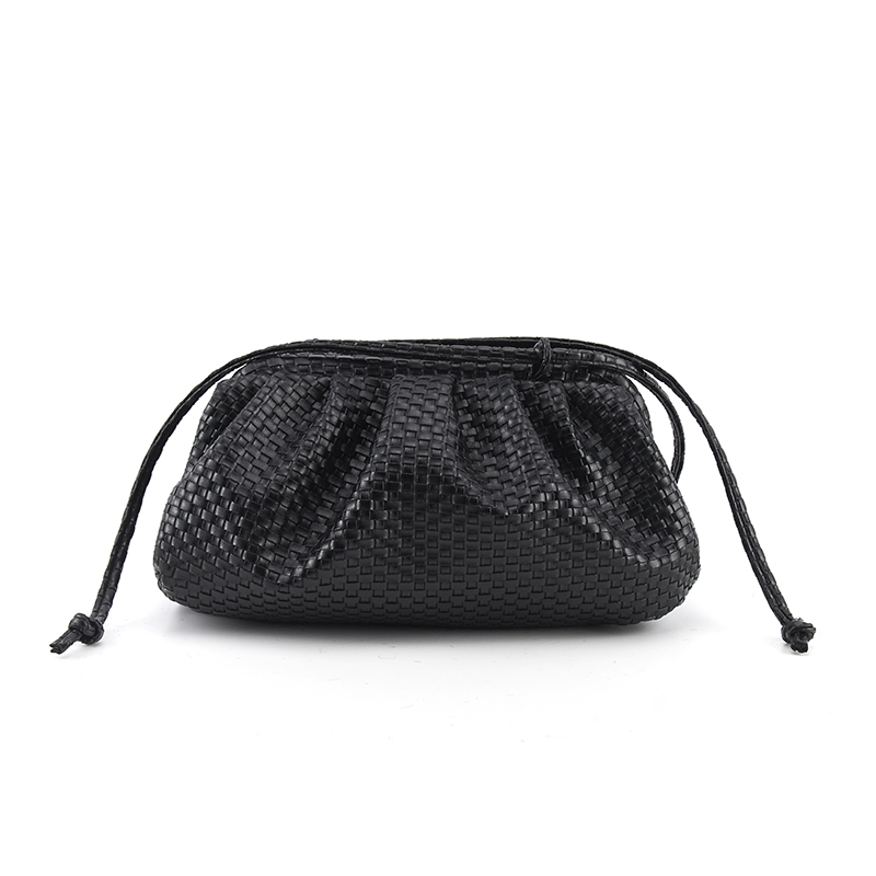 Women's Simple Dumplings Messenger Bag Woven Pattern Retro 2019 New Fashion Cloud Female Messenger Bag Shoulder Bag Tide Handbag