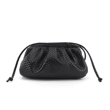 Women's simple dumplings Messenger bag woven pattern retro 2019 new fashion clou