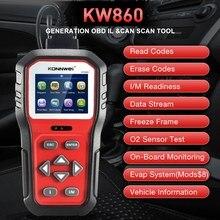 Herramienta de diagnóstico de coche, escáner profesional OBD2 KW860, lector de código de Error transparente, escáner automotriz OBD2