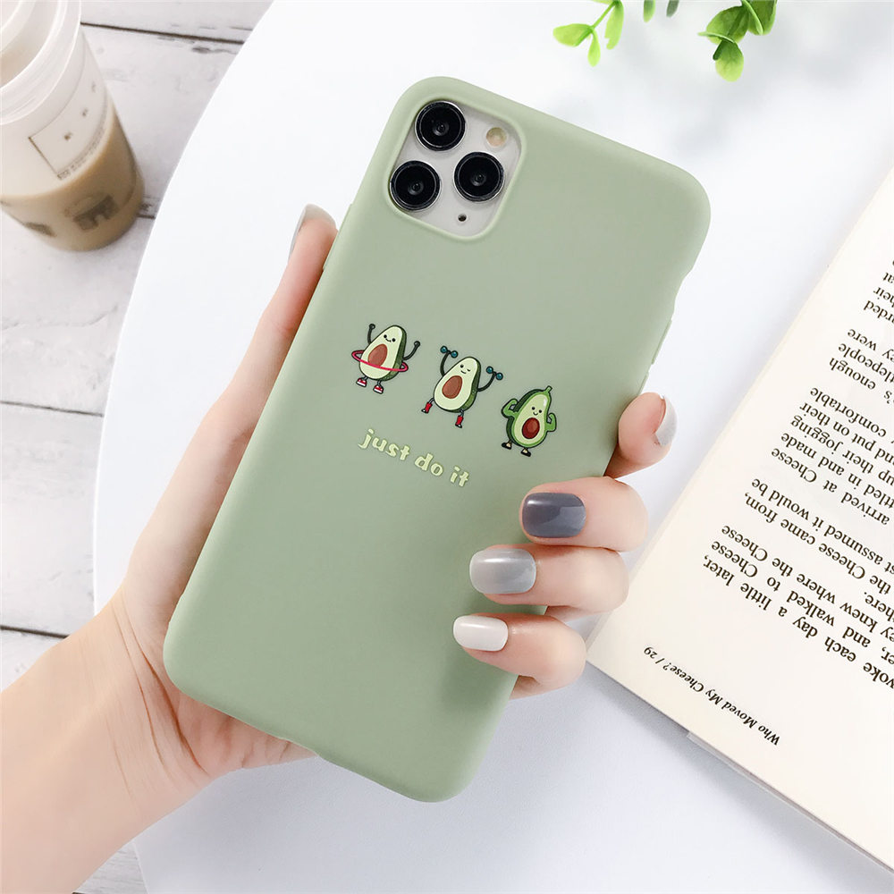 Haf4dd882f84d4dc5a0fb4c8a9a1dffcdC - Lovebay Silicone Phone Cases For iPhone 7 XR 11 Pro Avocado Waves Cactus For iPhone 5SE 6 6s 8 Plus X XS Max Soft TPU Back Cover