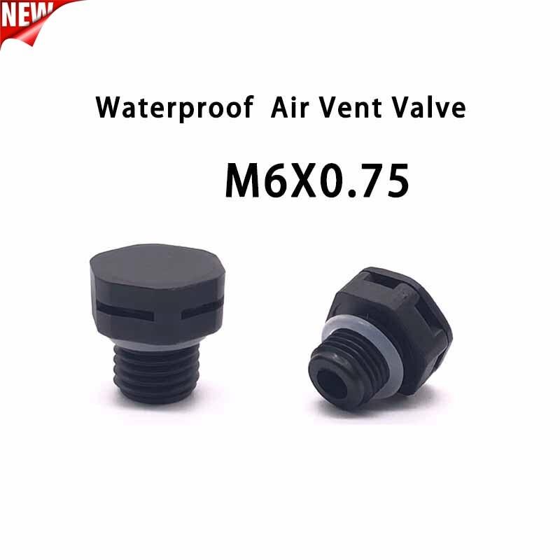 10Pcs M6*0.75 Nylon Waterproof Air Vent Valve Screw In Protective Vent Plug E-Plastic Breather Vent Valve