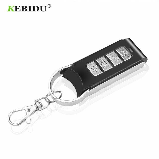KEBIDU جهاز التحكم عن بعد 4 قناة الاستنساخ الكهربائية لبوابة باب المرآب السيارات المفاتيح اللاسلكية 433Mhz نسخة رمز عن بعد