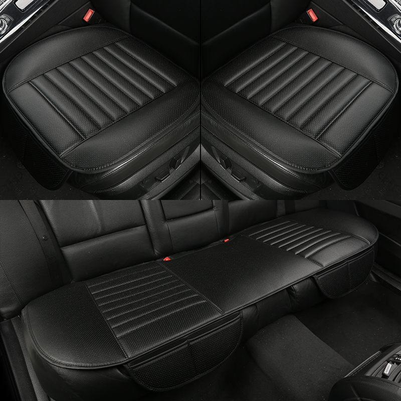 WLMWL Universal Leather Car Seat Cushion For Volkswagen Polo Golf Tiguan Passat Jetta VW Phaeton Touareg Phaeton CC All Models