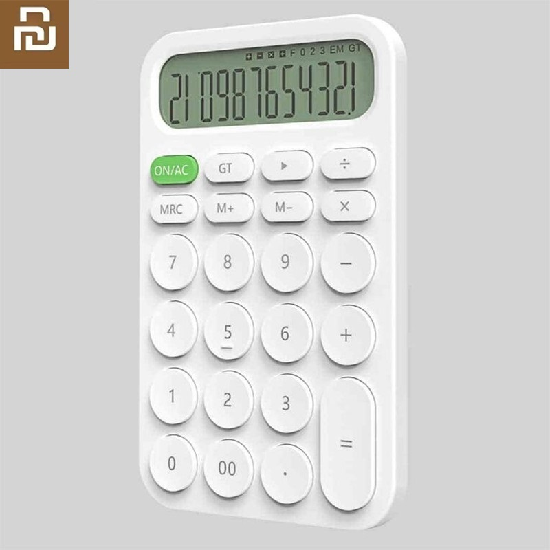 Youpin New 12 Digit Electronic Calculator LED Display Calculation Tool Business Office Student Stationery Pocket Calculator