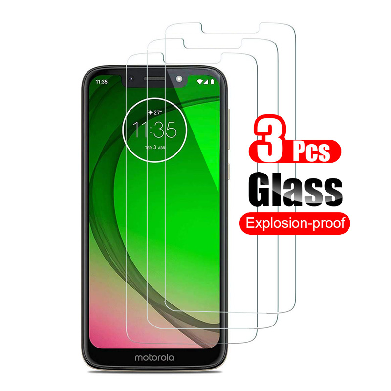 3Pcs Tempered Glass For Motorola Moto G7 G 7 Play Screen Protector For Motorola Moto G7 Power Plus Protective Glass 9H
