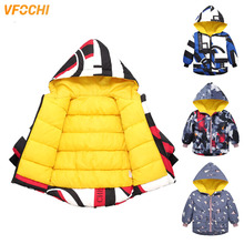 VFOCHI New Boy Girl Down Coats Kids Fashion Jacket Parka 4 Color Children Snowsuit Unisex Thick Hoodie Winter Outwear