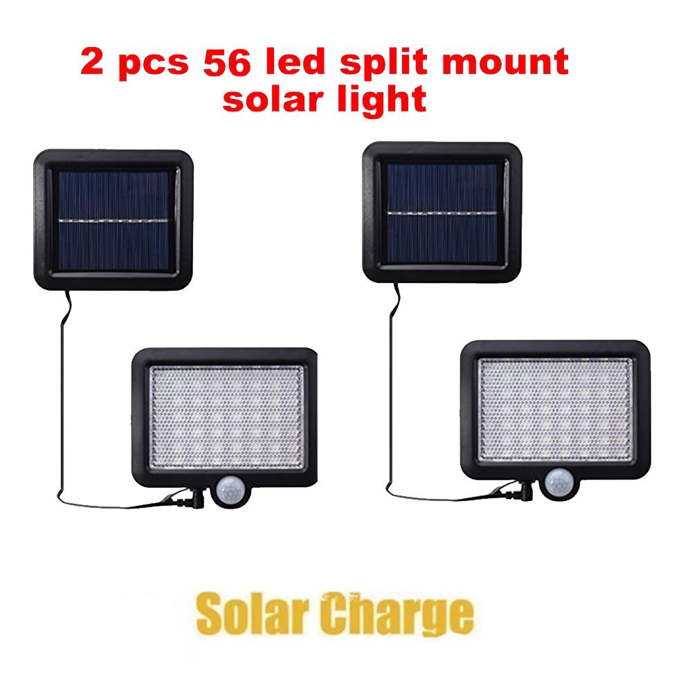 2/4pcs 100/56/30 LED Chip Solar Light PIR Motion Sensor Wireless Solar Lamp Outdoor Waterproof Garden Wall Yard Deck Security LE