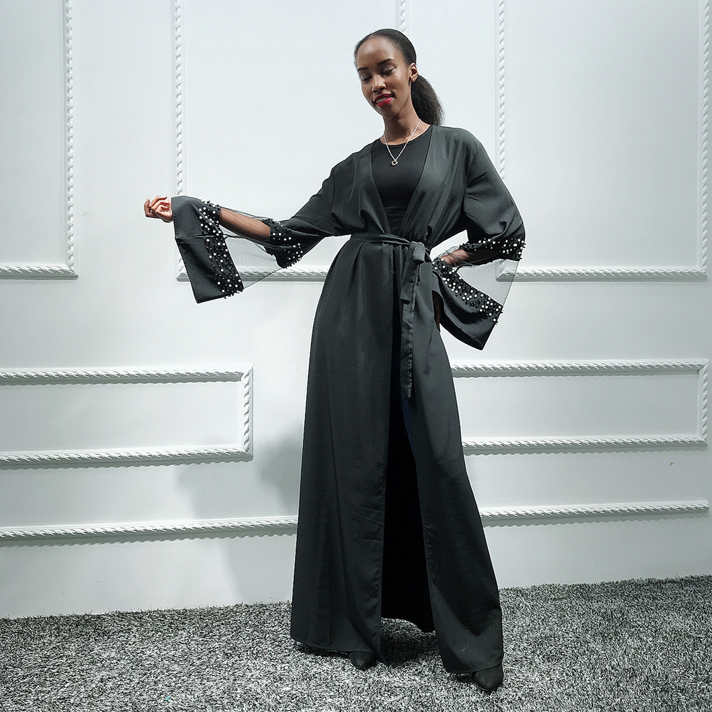 Black Abaya Robe Femme Kimono Muslim Hijab Dress Jilbab Caftan Kaftan Dubai Abayas For Women Ramadan Turkish Islamic Clothing