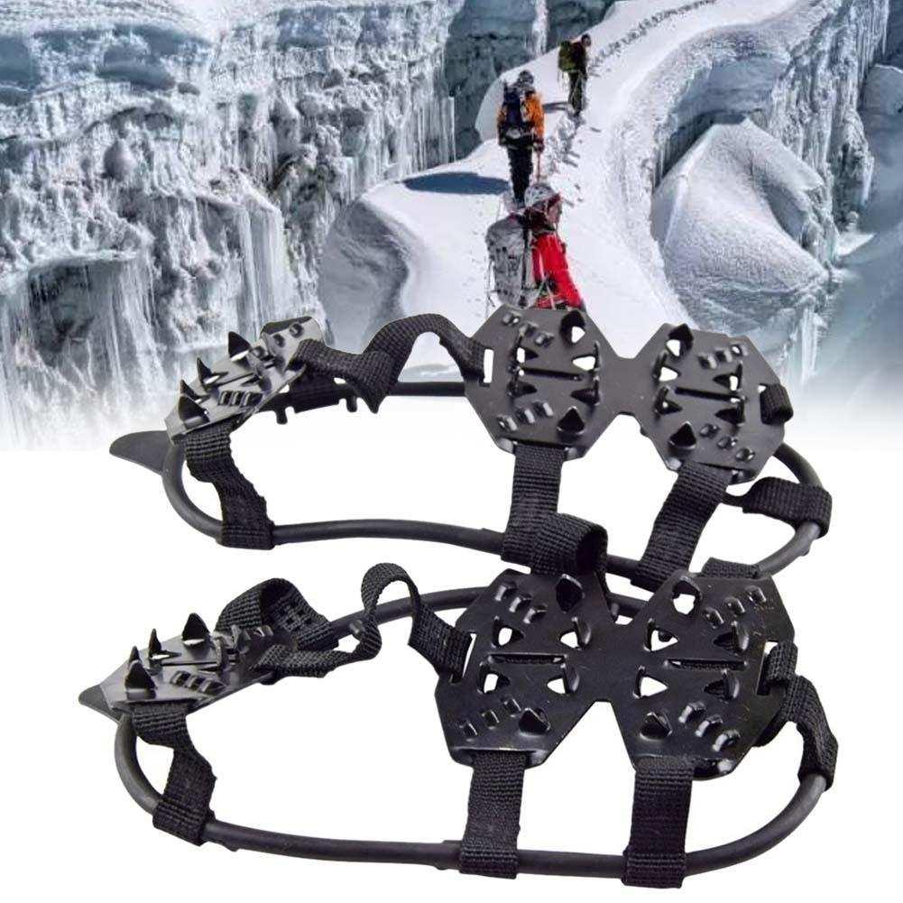 24 Teeth Ice Gripper For Shoes Women Men Non-slip Crampons Ice Gripper Spike Grips Cleats For Ice Snow Climbing Ski Accessories