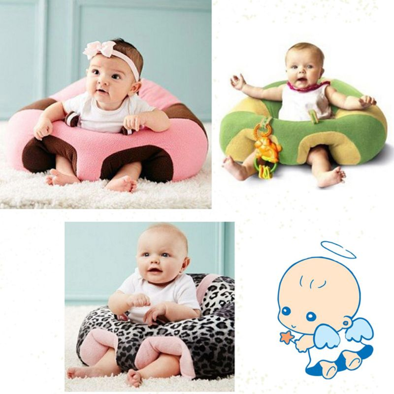 Baby Kids Support Seat Soft Plush Sit Up Cushion Learning To Sit Toy Sofa Chair