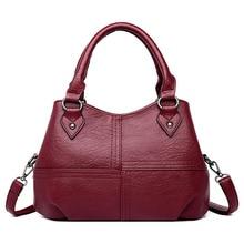 2019 Womens Handbag with Three Compartments Big Capacity Tote Bags Ladies Handbags Women Genuine Leather Bags Shoulder Purse
