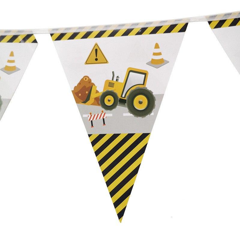 Гирлянда на день рождения для детей и мальчиков, баннер на экскаватор, автомобиль, украшение для вечеринки, 1 комплект
