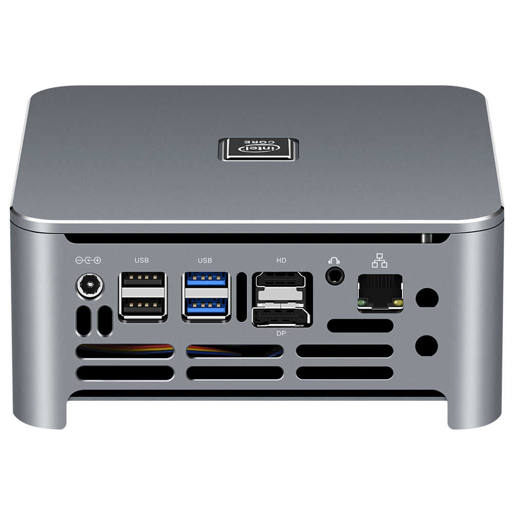Intel core mini pc i9 9880h i7 9750h i5 9400h 8 núcleos 2 * ddr4 m.2 ssd hdmi dp 4k 60fps 5 * usb tipo-c wifi bluetooth windows 10